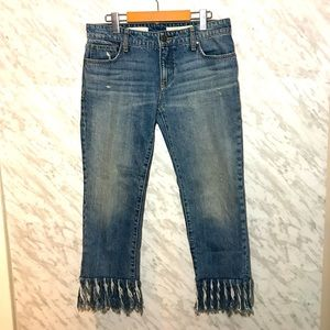 Anthro Pilcro Hyphen Cropped Jeans Size 27
